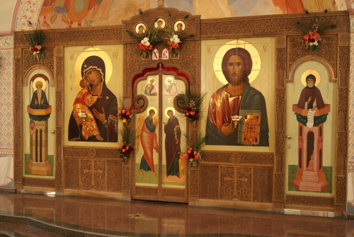 Iconostasis <br/>the raising of Lazarus church<br/>Minsk, Belarus