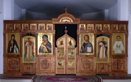 Iconostasis<br/>st Gabriel of Belostok church<br/>Grodno, Belarus